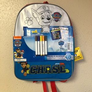 Paw Patrol Coloring Backpack, NWT